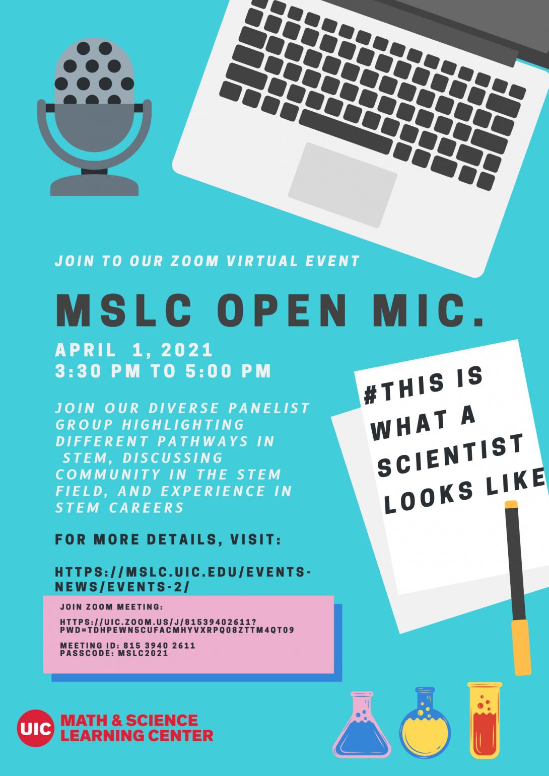 Flyer for open Mic
