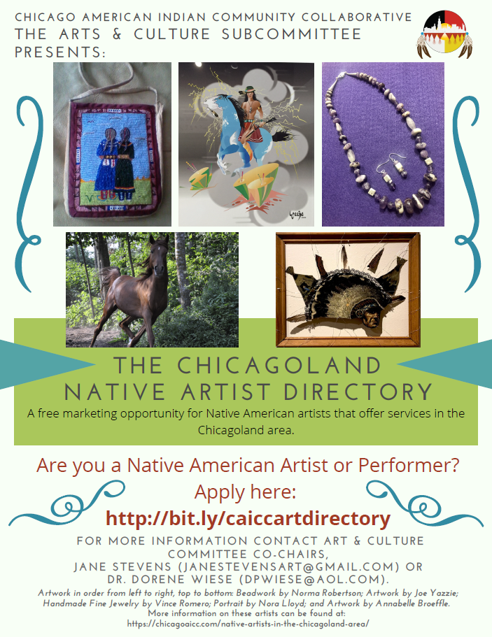 The Chicagoland Native Artist Directory Flyer