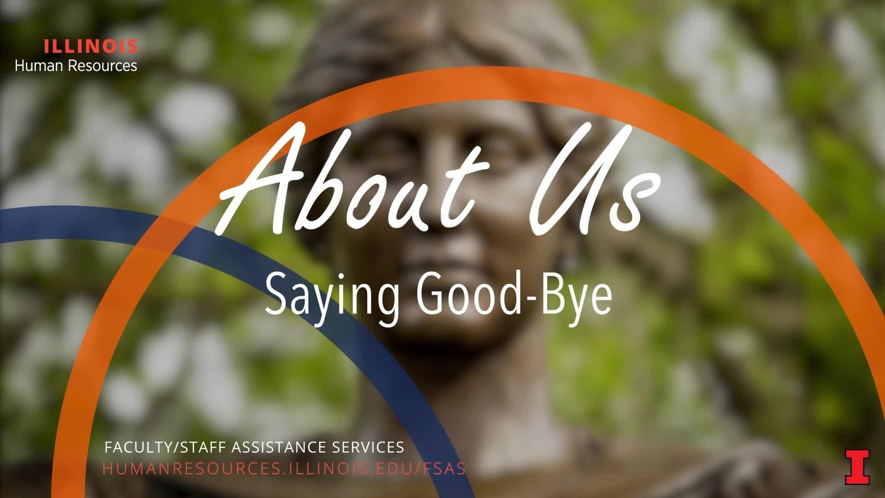 Saying Good-Bye Image