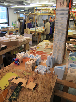 Inside the studio of Studio Gang Architects